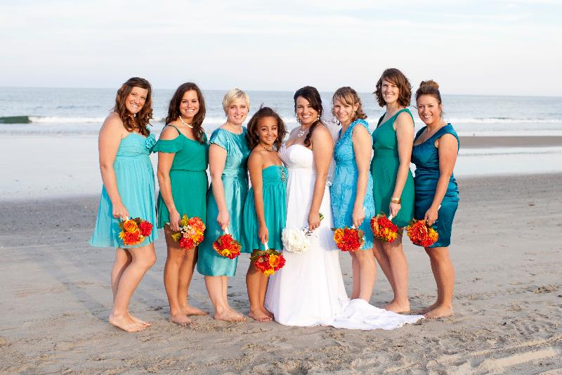 Beach Wedding Bridesmaids Pick Their Dresses