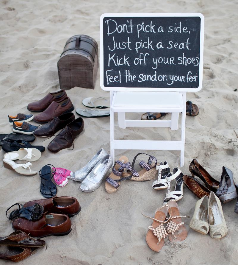 Beach Wedding Don't Pick Sides Sign