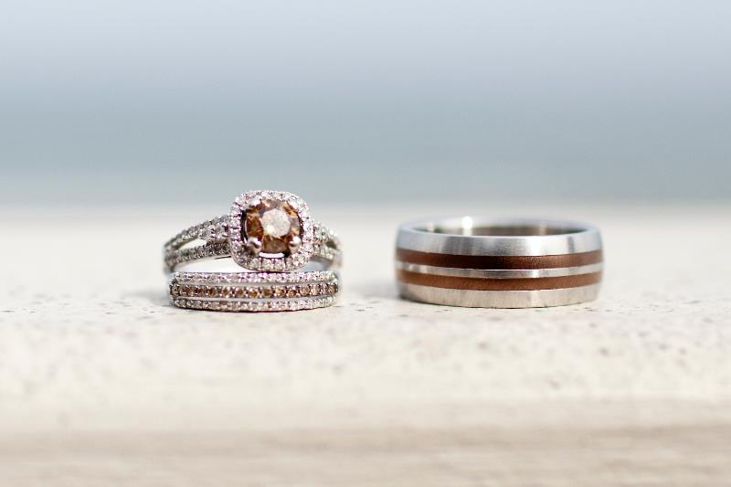 Chocolate Diamond Wedding Ring