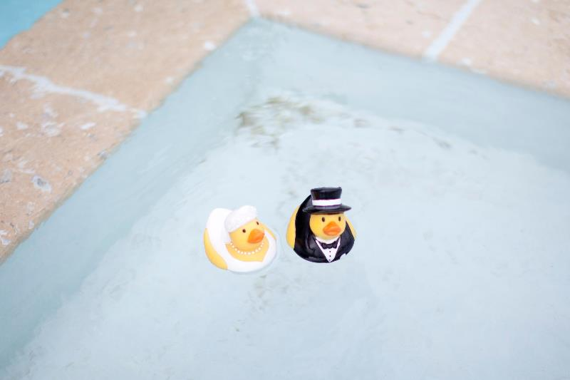 Bride and Groom Rubber Duckies
