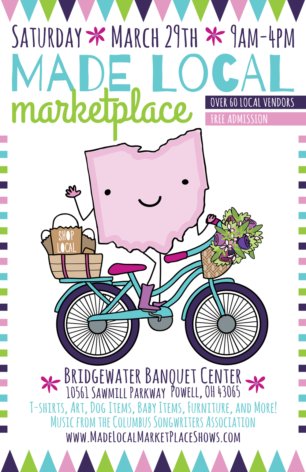 Poster Design for the Made Local Marketplace Spring Show