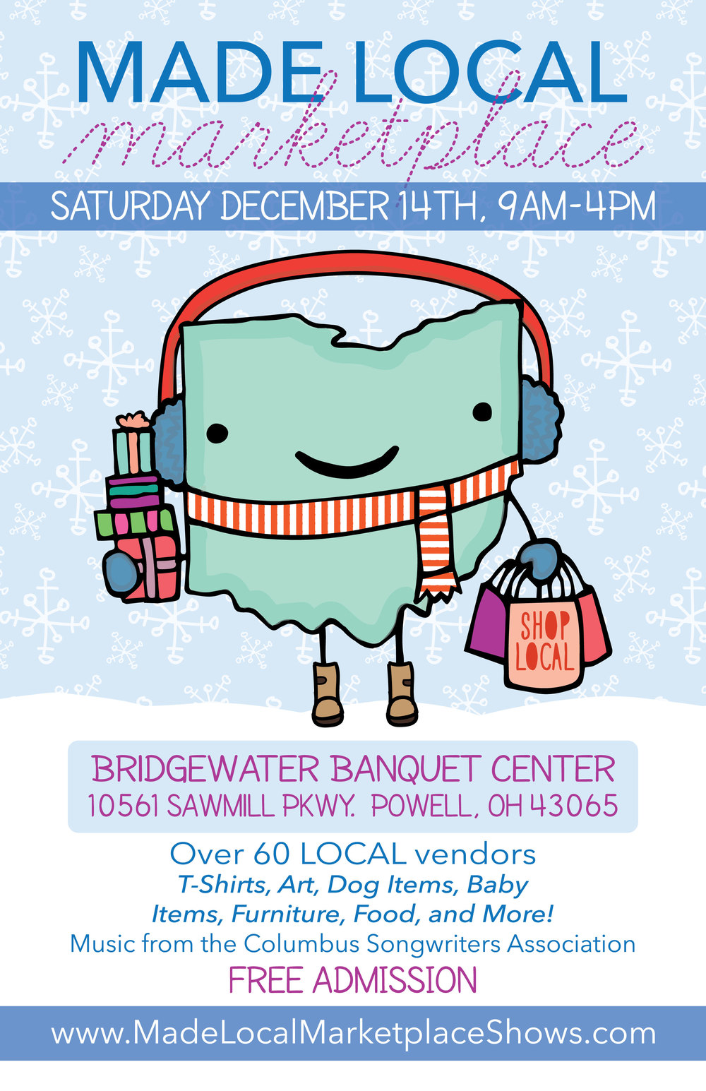 Poster Design for the Made Local Marketplace Holiday Show