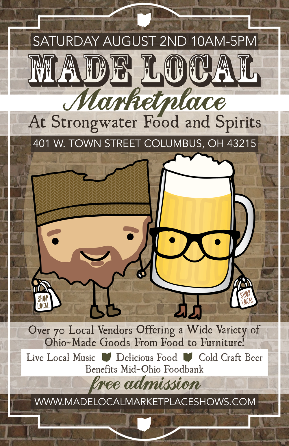 Poster Design for Made Local Marketplace at Strongwater Food & Spirits