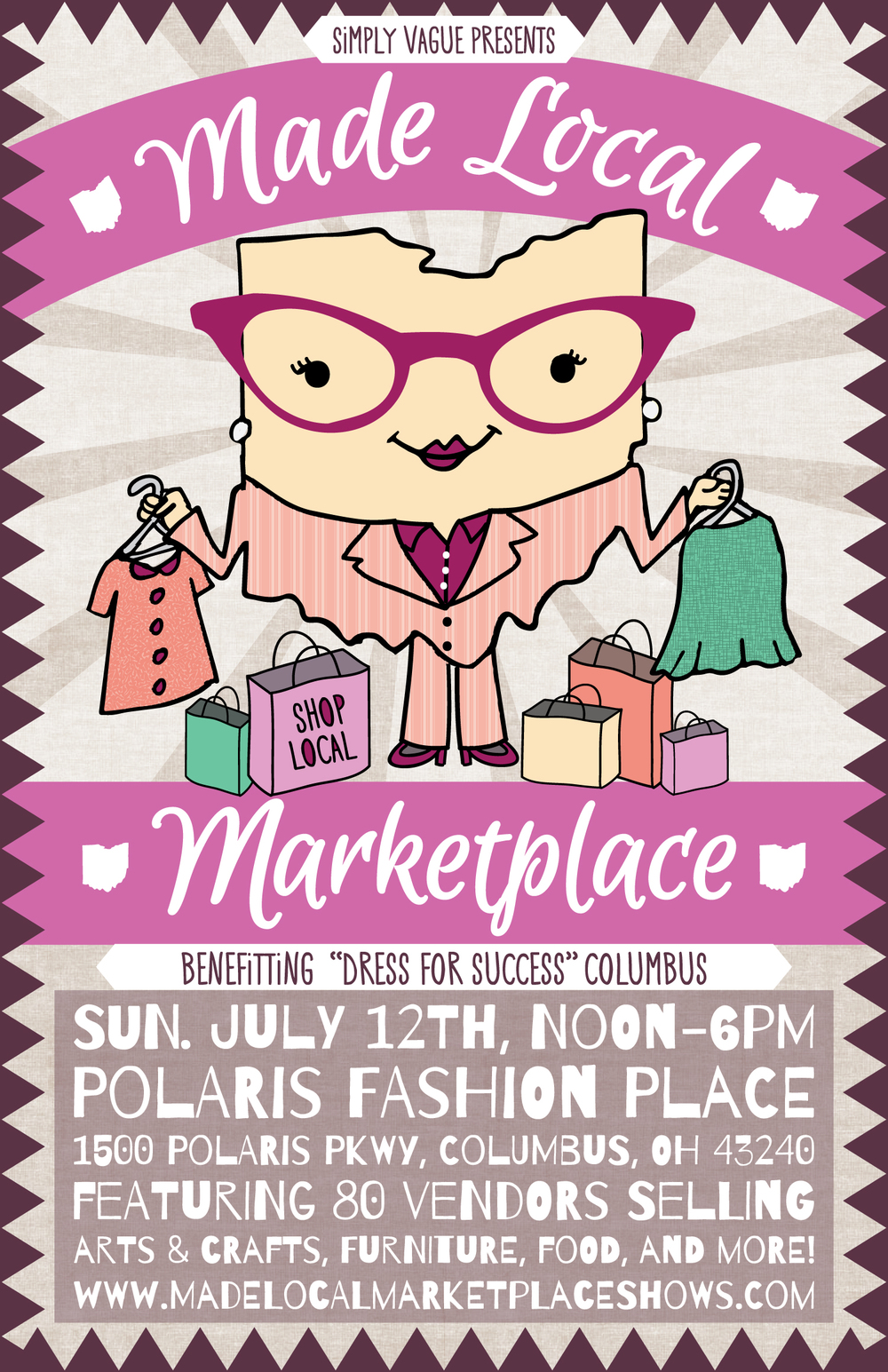 Poster Design for the Made Local Marketplace Summer Show 2015