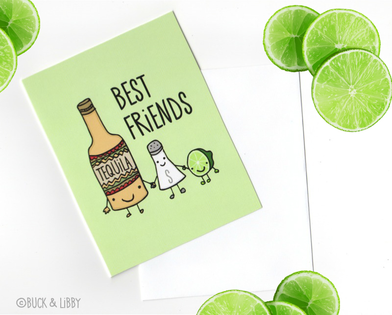 Tequila Besties Card