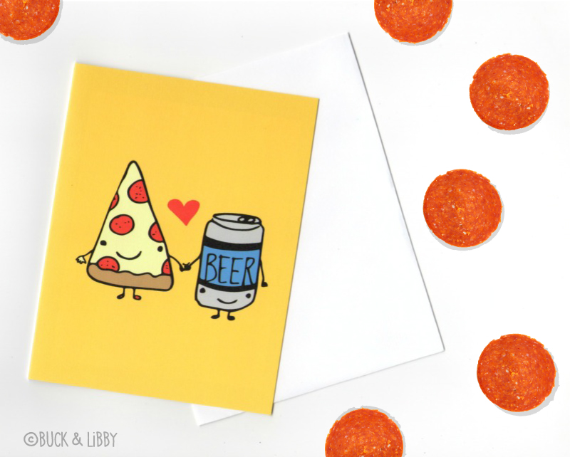 Pizza Loves Beer Card