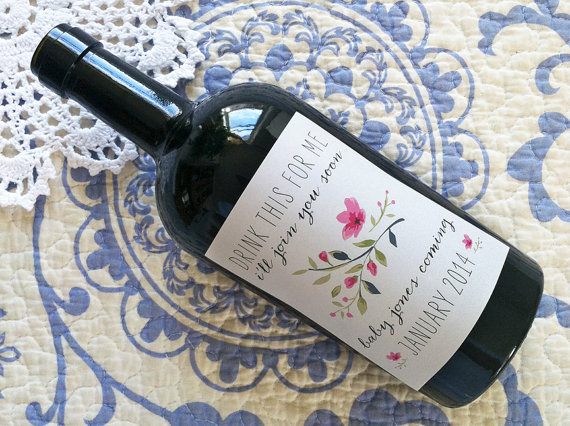 Custom Wine Bottle Label by Ten Twelve Designs