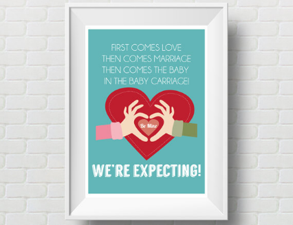 Downloadable Baby Announcement by Orange Elephant Designs