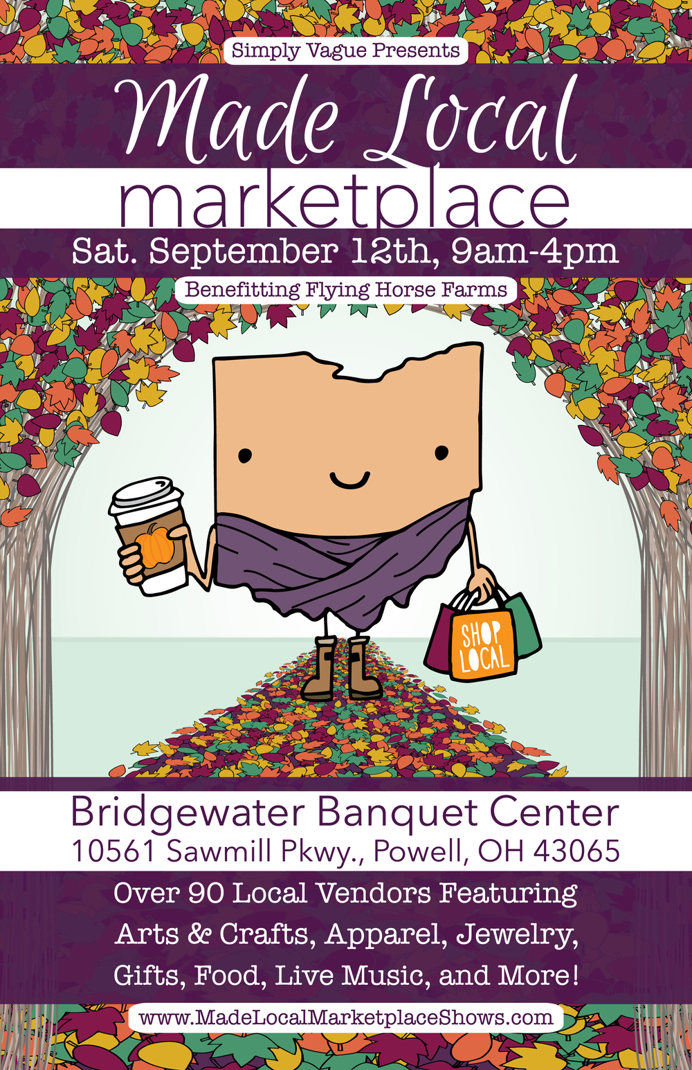 Poster Design for the Made Local Marketplace Fall Show 2015