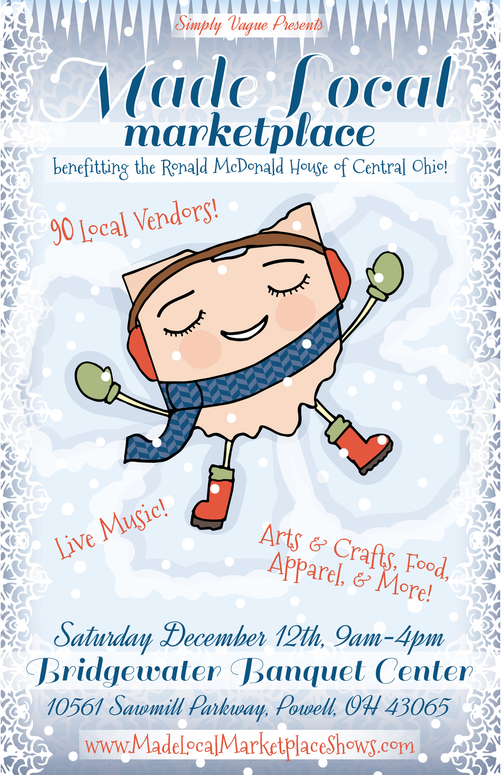 Poster Design for the Made Local Marketplace Holiday Show 2015