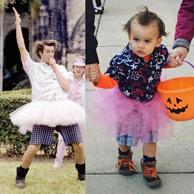 Taking advantage of the fact that he's still too young to really have an opinion on what his costume should be 😂 #lacesoutdan #finkleiseinhorn #einhornisfinkle #aceventura