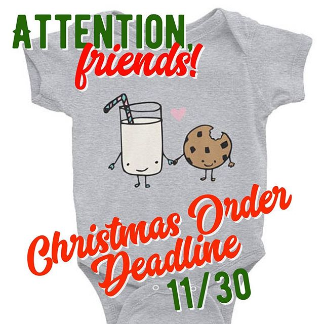 A little note: Working with a new printer means working on their schedule. Unfortunately this means sometimes there are stricter deadlines than we'd like. That being said, if you're interested in any of our newest Etsy products including kids shirts, onesies, or mugs, you have to get your orders in by Thursday 11/30 to guarantee delivery before Christmas. Thanks for your understanding! ❤️ (greeting cards and prints can still be shipped until a future deadline is announced👍🏼)