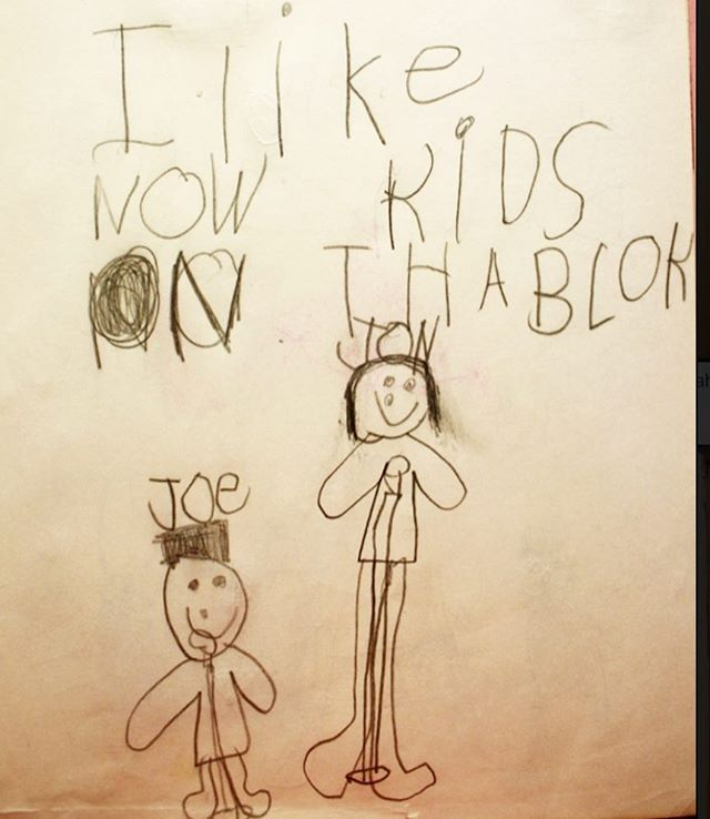 Buck & Libby doodles circa 1989 😂