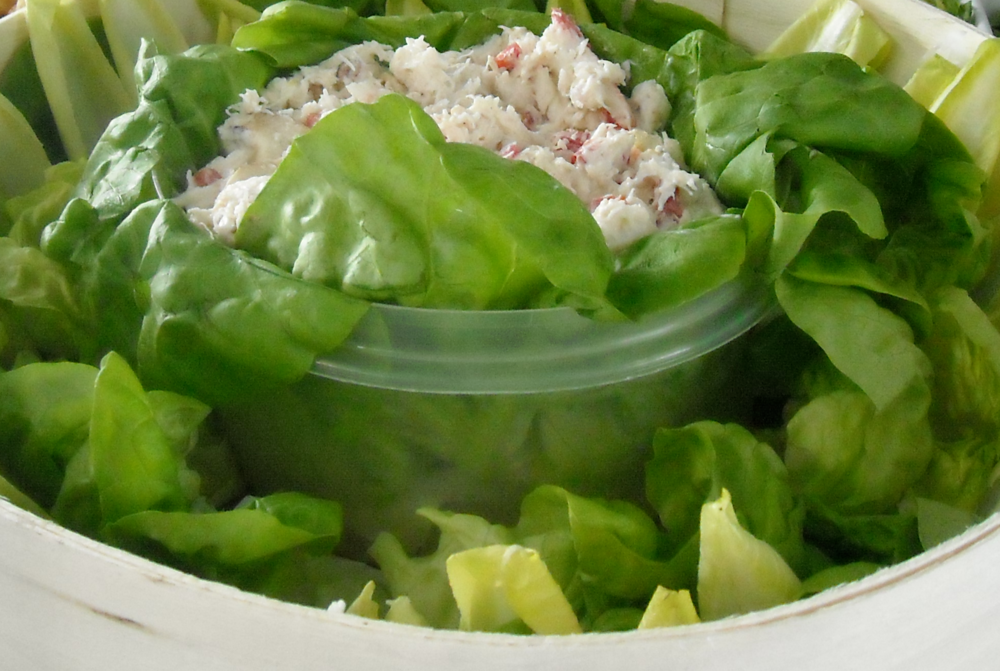 Amy's Dungeness Crab Salad with Butter Lettuce Leaves