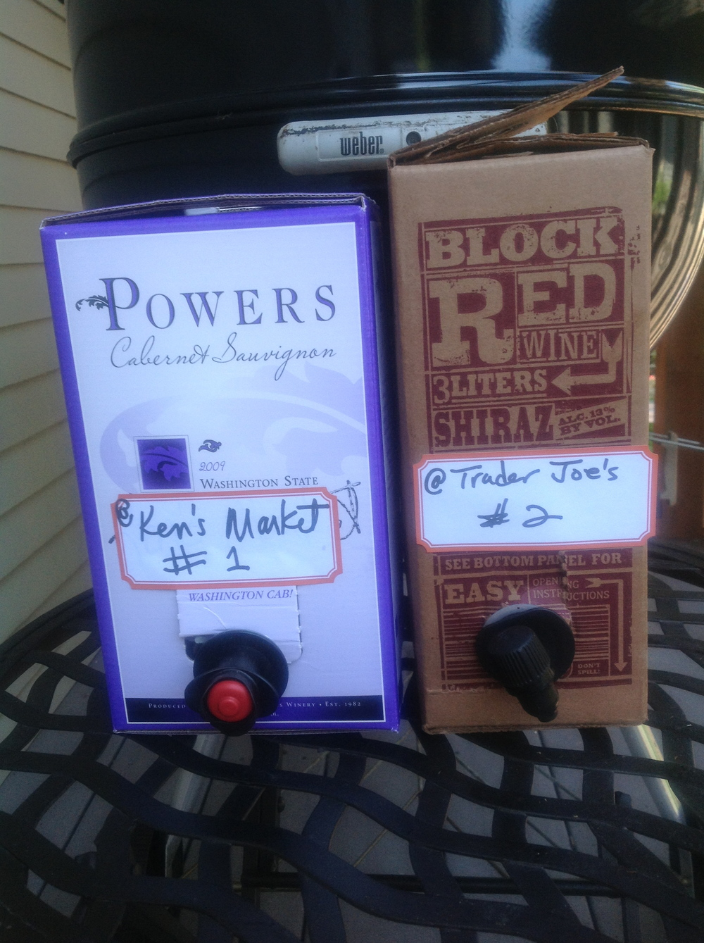 Powers Cab Sav and Block Red Shiraz