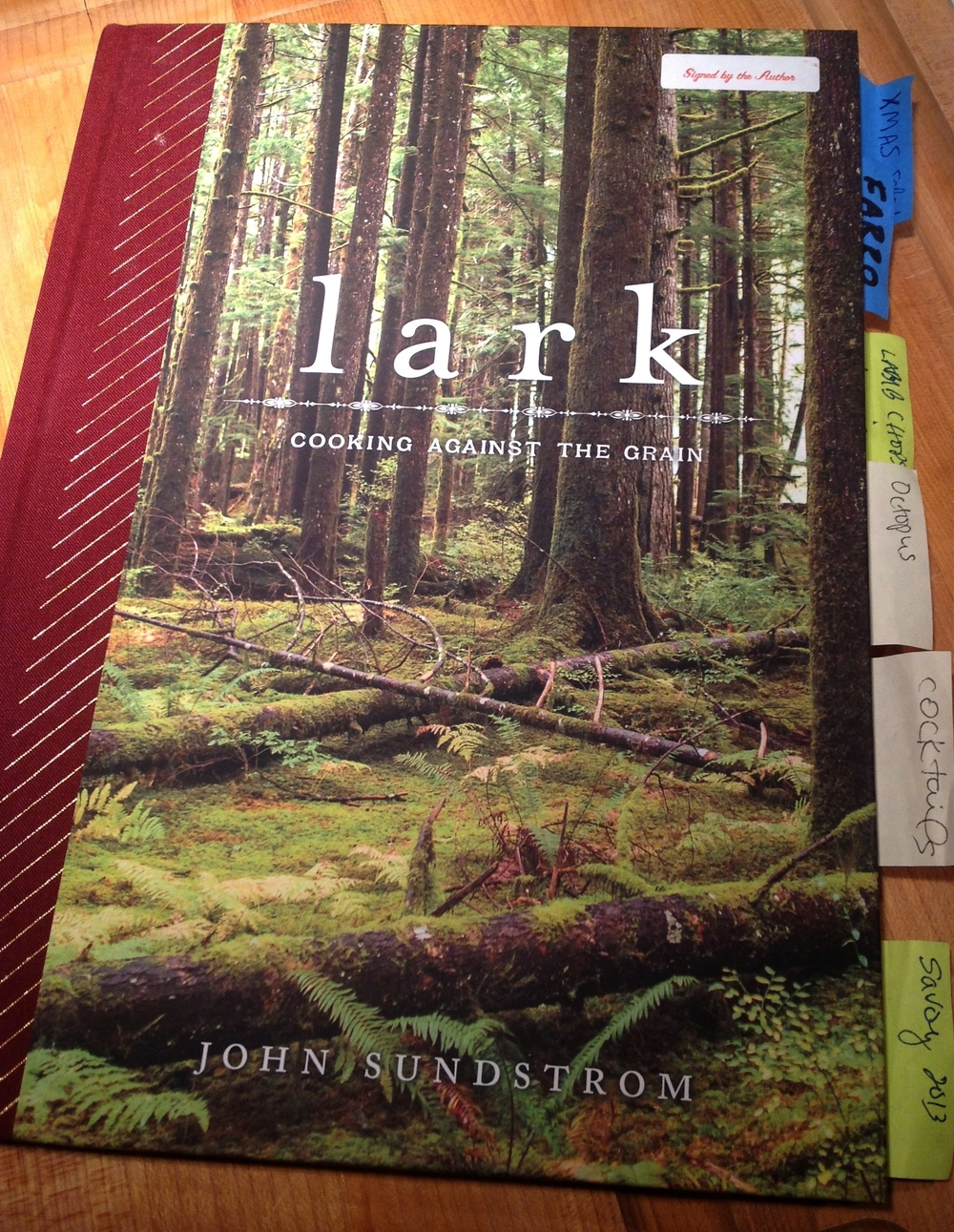 lark COOKING AGAINST THE GRAIN by John Sundstrom