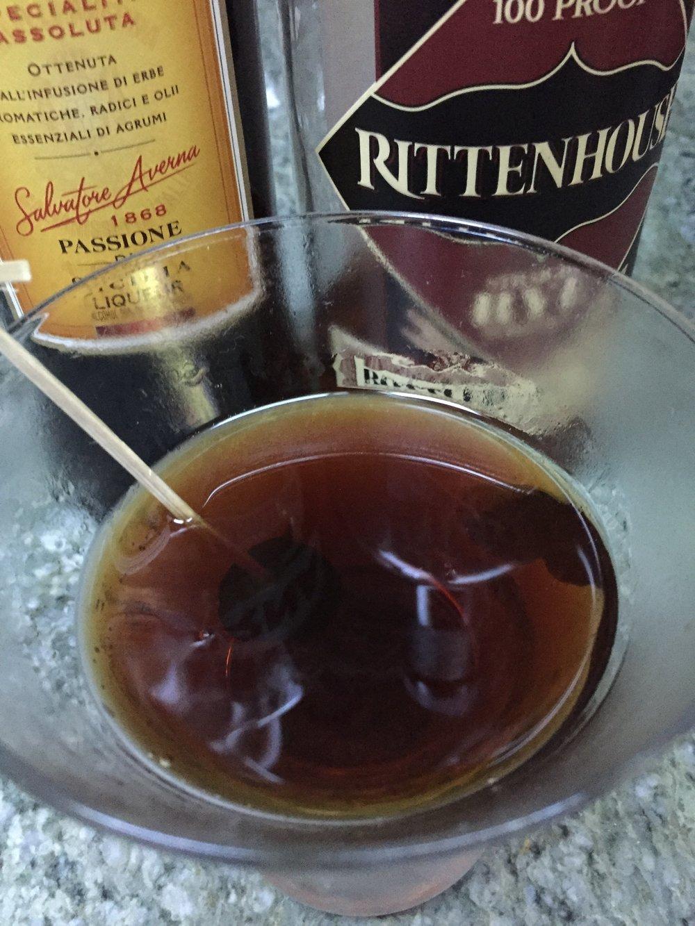 A Black Manhattan with rye and Averna Amarao makes a liquid dessert.