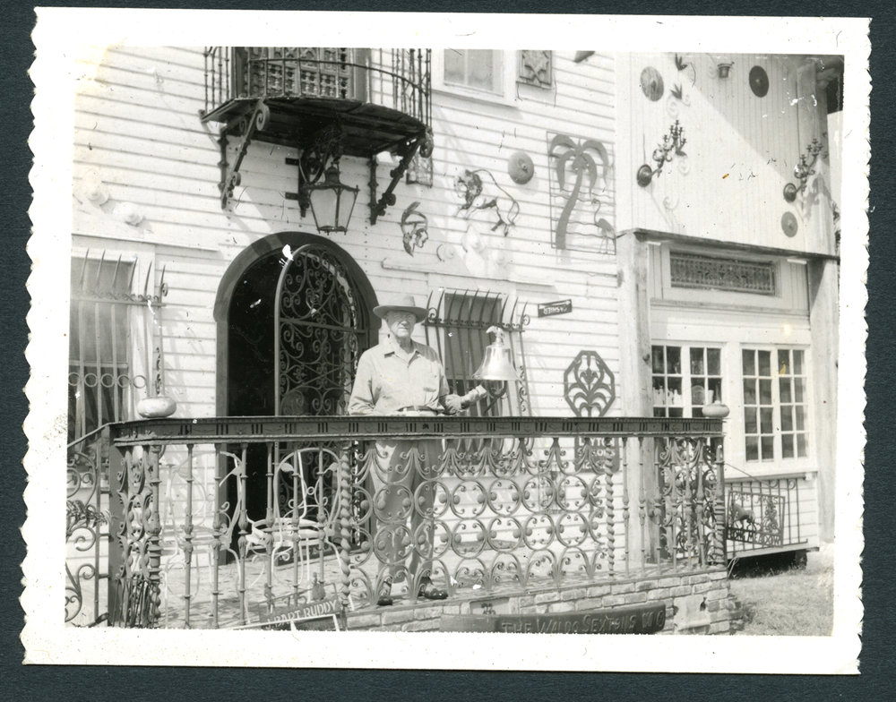 Waldo E Sexton and the art gallery that became a restaurant, The Turf Club and later the Sichuan Palace. The murals I posed for are still on the walls inside, just not too easy to get a look at.