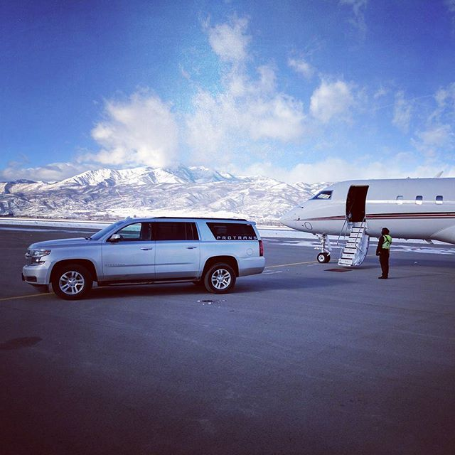 ProTrans serves all Utah FBOs like this one #OK3Air and #tacairslc and #atlanticaviationslc. We can get you from your #global5000 to #parkcity in about 45 minutes. Book online at www.protransparkcity.com
