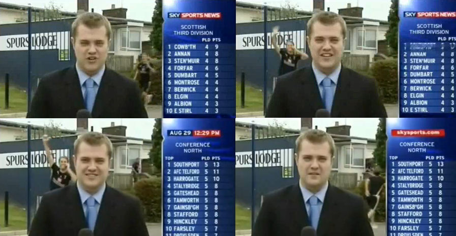 Who could ever forget this moment? Cheeky David running into the background of a SSN report at the Lodge, jumping around for the camera. Inspired stuff, forever endearing himself to the Spurs faithful.