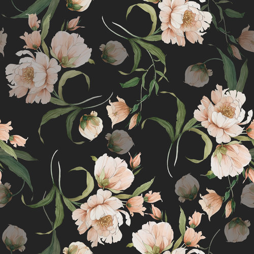 Black Peony Wallpaper Carleigh Courey Design