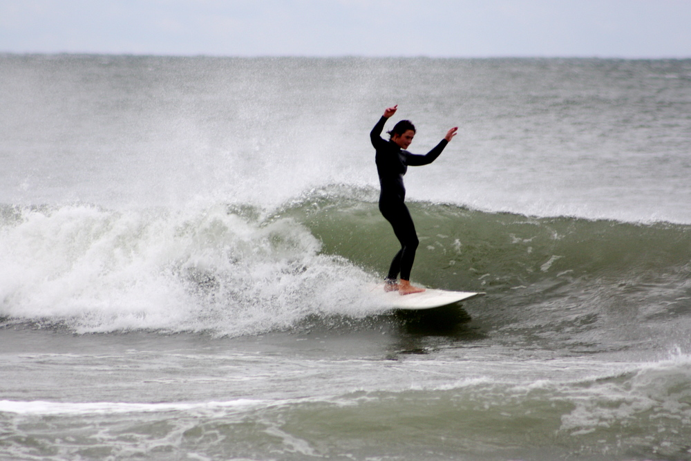 Dingin!! Me at North Beach in winter. Pic by Jess Bramley-Alves.