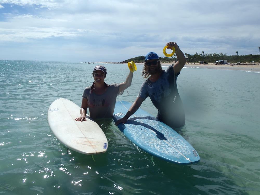 A unique combination of passions: fishing, surfing and paddle training