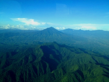 Javanese Volcanoes as seen from Susi Air flight