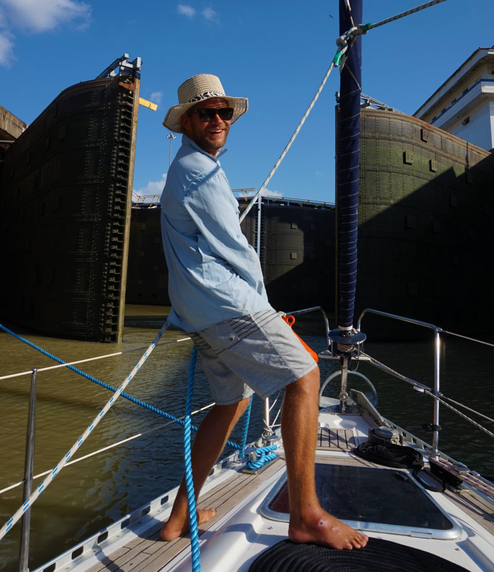 In a Panama Hat and all, Miraflores Locks