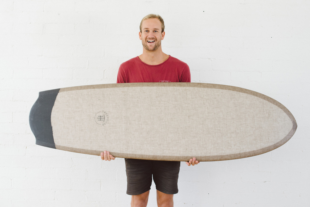 AH Finless Surfboard Bottom