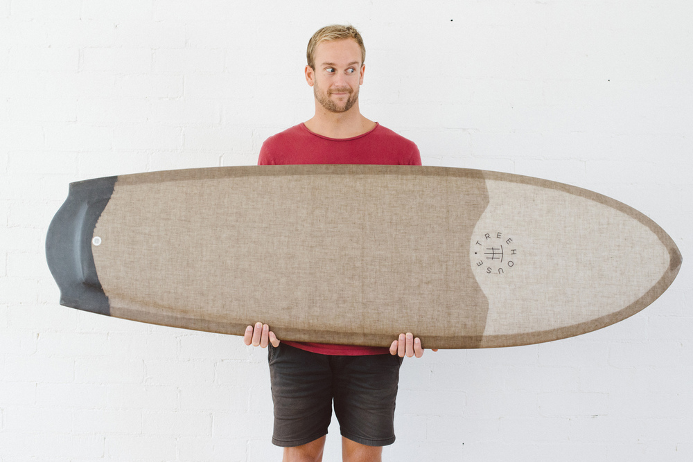 AH Custom Finless Surfboard Top