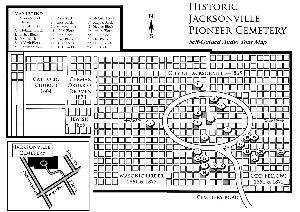 Walking Tour Map of Pioneer Cemetery