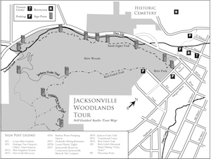 Map of Jacksonville Woodlands Trail System Tour