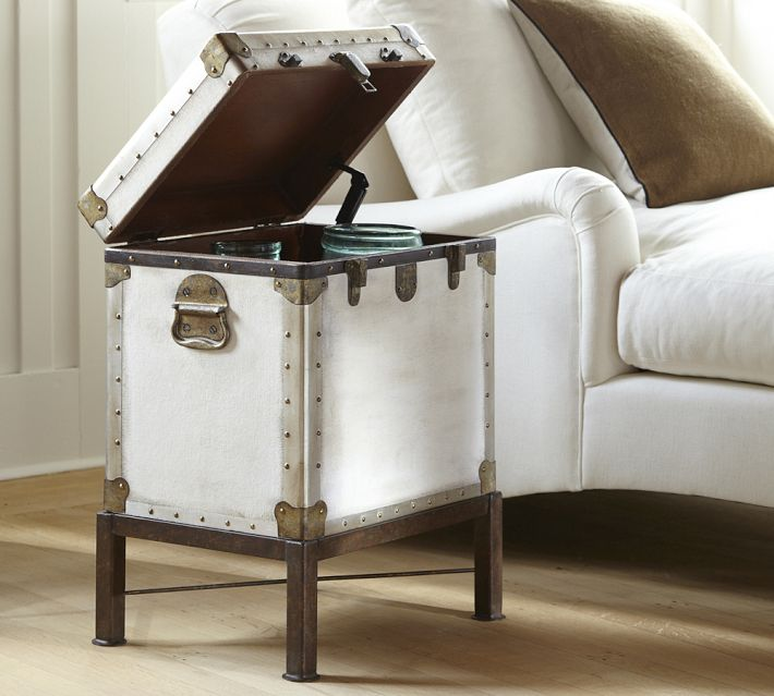 Storage is such a plus. Ludlow Luggage Side Table, $399 from Pottery Barn.