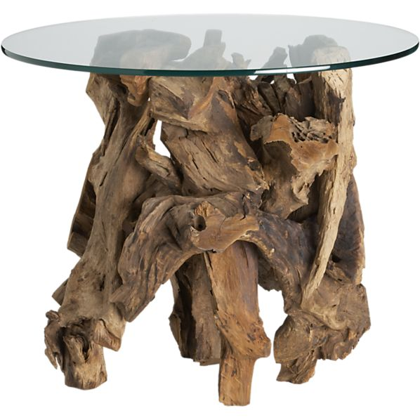 If you're clumsy, don't stub your toes. Driftwood End Table, Crate & Barrel. $399.
