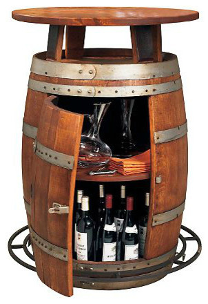 Thank you, Wine Enthusiast. Oak Barrel Table, $749.
