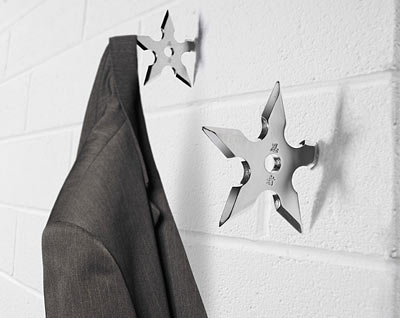 Ninja stars! Silly but still visually interesting. Guys would love these.