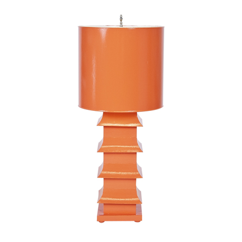 Bring some Far East influence in with a pagoda style lamp.