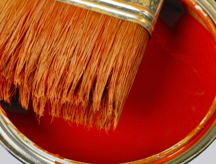 Benjamin Moore's  Blazing Orange