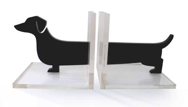 Acrylic bookends, $85.00