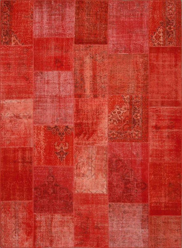 Rx Walking On Jewels Overdyed Area Rugs In Ruby Emerald
