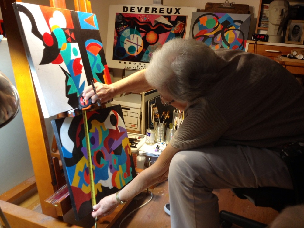 Mara at work in her studio. You can contact me to put you in touch, or call her directly at 310.569.1115.