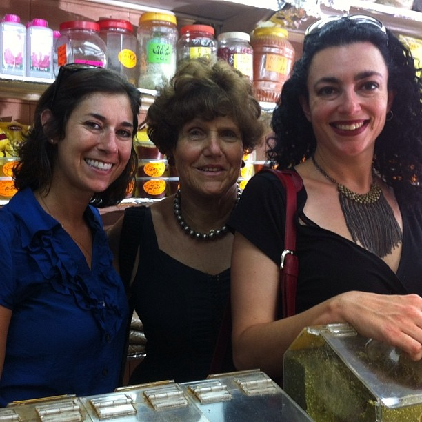 Inbal Baum (L), Joan Nathan (C) and Simone Cormier (R)
