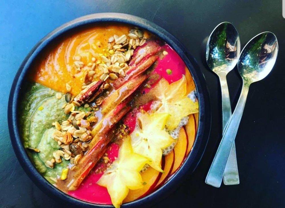 Bana's gorgeous smoothie bowl. Photo: Bana