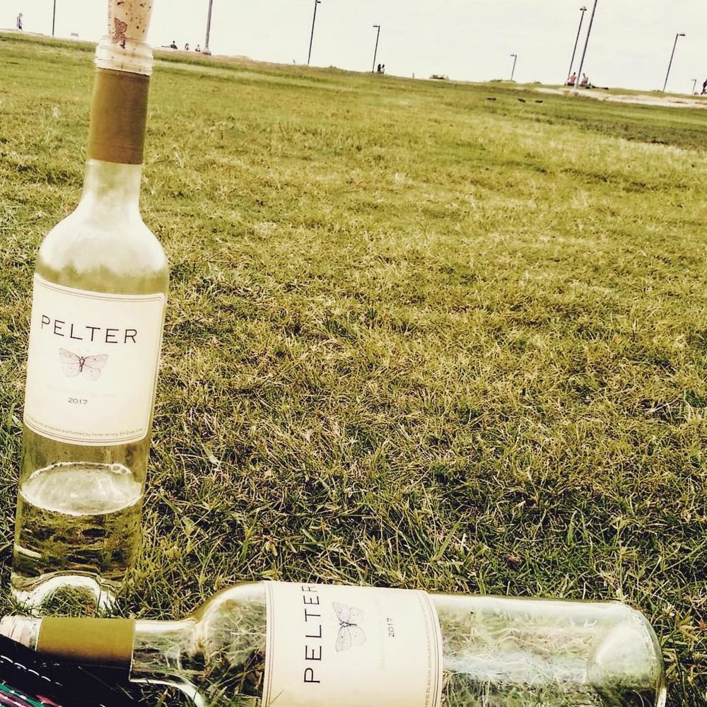 Pelter's lovely sauvignon blanc on a beautiful spring day - what could be better? Photo credit: Pelter Winery (Instagram)