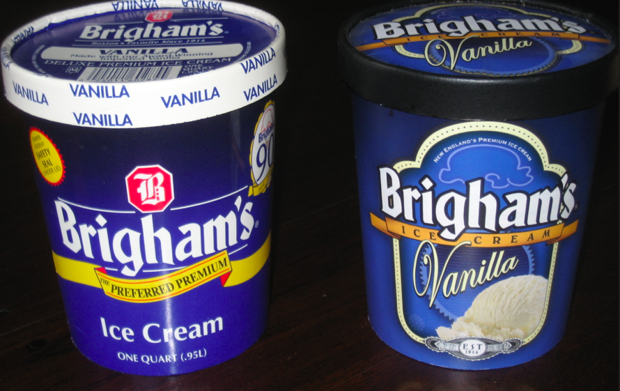 A fresher look for Brigham's - Design (Right) by Rattle Advertising.