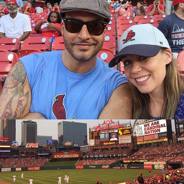 Home game in St. Louis! Go Cards!! ⚾️❤️ #CardinalsNation #stlouis #ballgame #marsandmingo