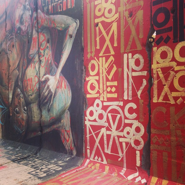 East side of the Berlin Wall #Herakut #Retna | Wende Museum LA   #falloftheBerlinWall #eastGermanRevolution
