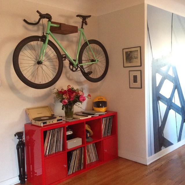 New wall art. 🚲☺️ Had our bikes stolen awhile back. Now keeping the bikes inside #6ku #mintyfresh #heythatsmybike