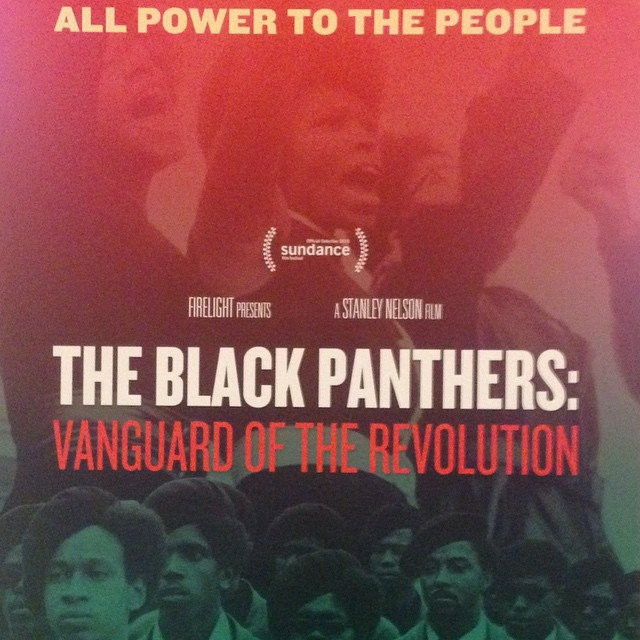 Just saw the screening of the film The Black Panthers: Vanguard of the Revolution with my man @mingointhedance #powertothepeople #blackpanthers #breakfastforchildren   #freehuey